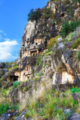 Ancient ancient tombs, Turkey.