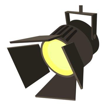 Movie or theatre spotlight icon, cartoon style