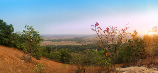 Cambodia. A view from the hill on the valley