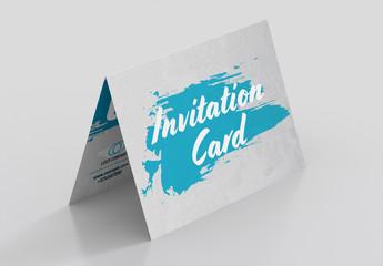 Folded Invitation Card Layout 1