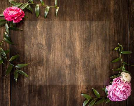 Floral Background with Whitespace