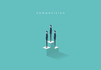 Business Competition Podium Illustration