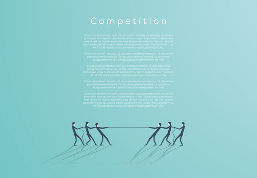 Business Competition Tug of War Infographic