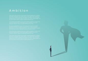 Businessman Superhero Infographic