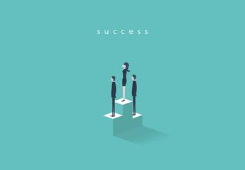 Business Competition Podium Illustration 2