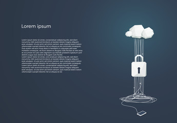 Cloud Computing and Data Security Illustration