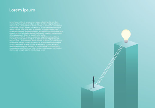 Creativity Concept Ladder Infographic