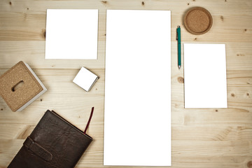 White desk with papers