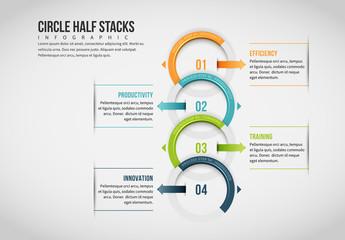 Half Circle Chain Infographic 3
