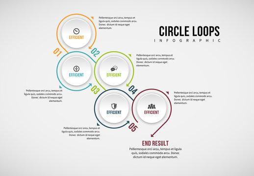 Circle Chain Infographic 13