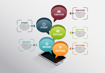 Smartphone and Talk Bubble Infographic