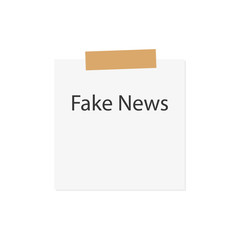notebook paper with fake news- vector illustration