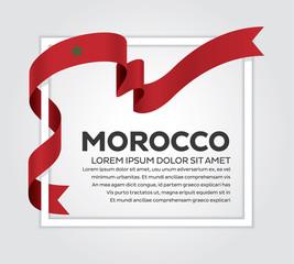 Morocco flag background