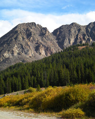 Colorado High-Country Mountain Scene in the Fall