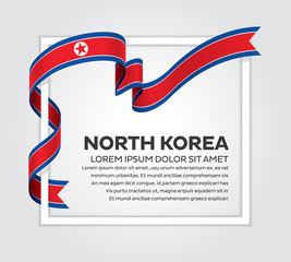 North Korea flag background