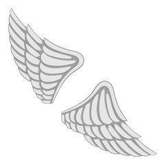 Wings icon monochrome