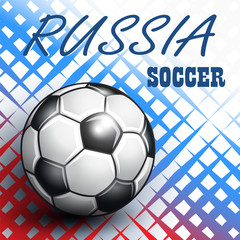Soccer Championship 2018 in Russia background.