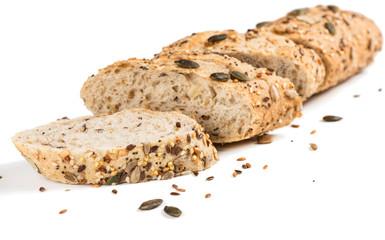Multigrain bread, close up.
