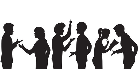 Business Communication Silhouette