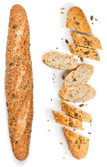 Wall Mural -  Whole and sliced multigrain bread.