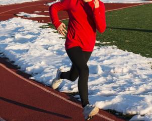 Running on a shoveled track