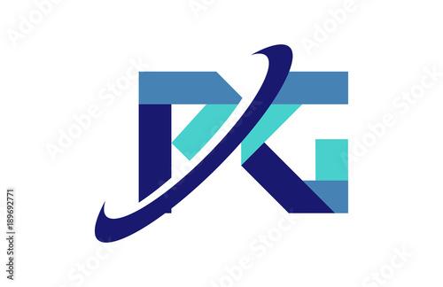 Pg Ellipse Swoosh Ribbon Letter Logo Stock Image And Royalty Free