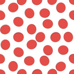 Seamless geometric pattern, red hole on white background, stripes abstract template, vector illustration