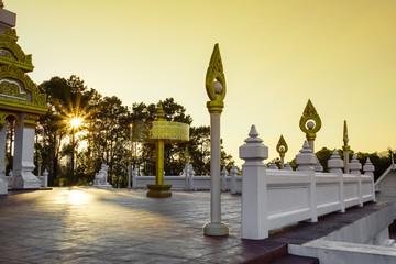 Beautiful scene in Wat Phra Thad Santidham temple.