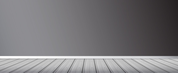 Wall and floor background. Wall and a wooden floor background. Vector. Wood Floor vector image.