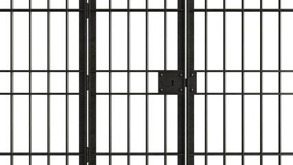 Metal jail bars