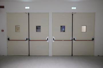 corridor with anti-panic doors
