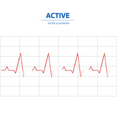 Active heart beat. Business concept of activeness, power and mind set in work.