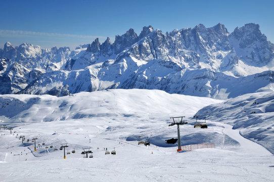 Ski paradise in the Italian Dolomites