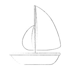 summer sailboat isolated icon