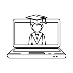 laptop computer with graduated