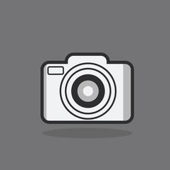 camera icon flat style illustration