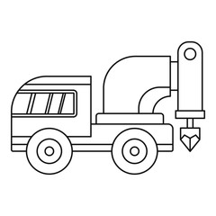 Drilling machine icon outline