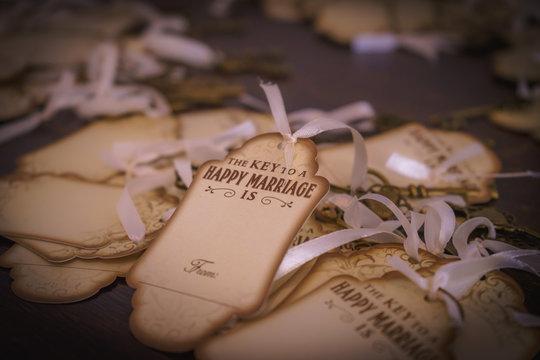 wedding key tags
