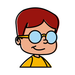 School boy with glasses icon vector illustration graphic design