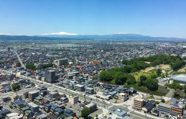 Aerial view of Yamagata, Japan