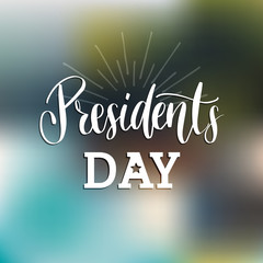 Happy Presidents Day handwritten phrase in vector.Used for holiday poster, greeting card etc.