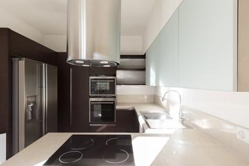 Interior photo of empty apartment, the kitchen