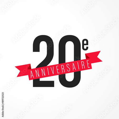 20 Ans Carte Anniversaire Stock Image And Royalty Free Vector Files