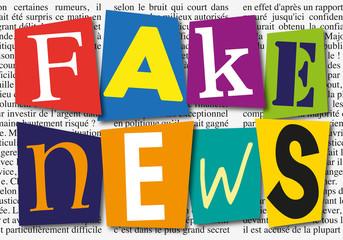 Fake news - infos - information - mensonge - faux - mentir - web - internet - concept - média