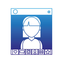 Girl and chat design