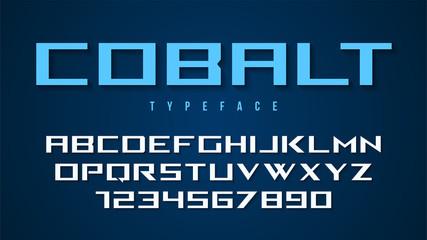 Cobalt vector decorative font design, alphabet, typeface, typogr