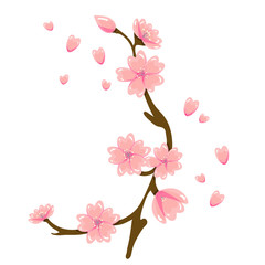 Cartoon Sakura Spring Flower Illustration