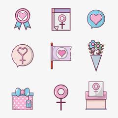 set womens day celebration holiday