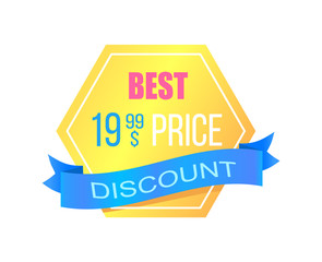 Discount with Best Price Promotional Gold Sticker