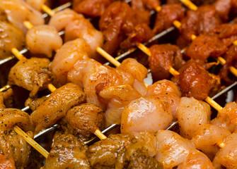 cooking kebab way of cooking meat seasonings salt pepper spicy marinade